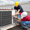 HVAC-technicians-working